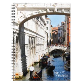 Brug in Venetië, Italië Ringband Notitieboek