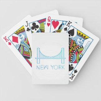 Brug | van Brooklyn de Stad van New York Bicycle Speelkaarten
