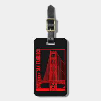 Brug van de Poort van San de Francisco-Gouden Bagagelabel