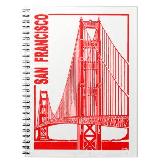 Brug van de Poort van San de Francisco-Gouden Notitieboek