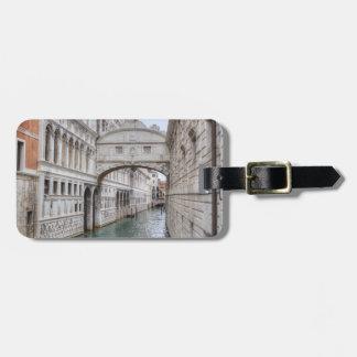 Brug van Sighs Venetië Italië Kofferlabel