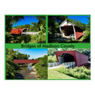 Bruggen van de Provincie van Madison Briefkaart
