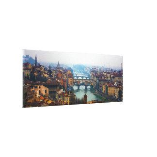 Bruggen van Florence Italië Canvas Prints