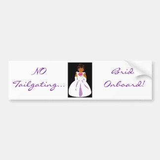 """""""Bruid aan boord van II"""" Klantgerichte Sticker van Bumpersticker"""