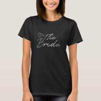 Bruid - de Zilveren & zwarte t-shirt van de