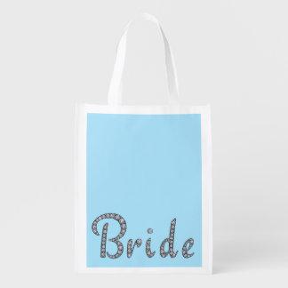 Bruid die opnieuw te gebruiken zak bling boodschappentas