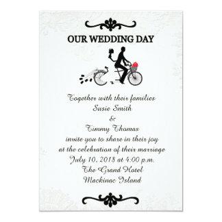 Bruid en Bruidegom op Huwelijk het Achter elkaar Kaart