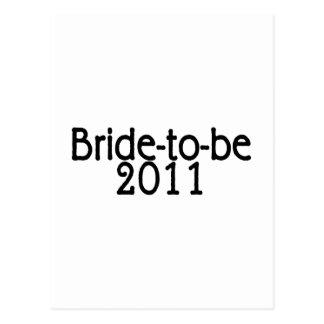 Bruid om 2011 te zijn briefkaart