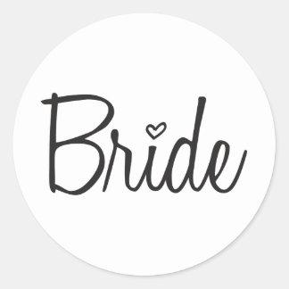 Bruid Ronde Sticker