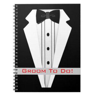 Bruidegom om Smoking te doen Notitieboek