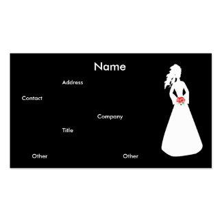 Bruids Silhouet II Visitekaartje