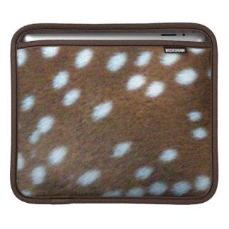 Bruin bont met wit stip Bambi iPad Sleeve