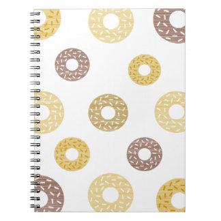 Bruin en het beige patroon van Donuts - Notitieboek
