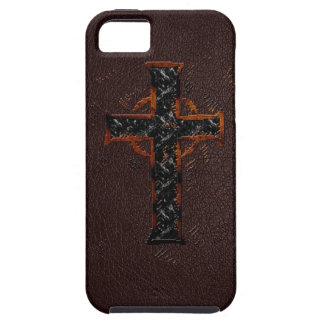 Bruin en Oranje Kruis Tough iPhone 5 Hoesje