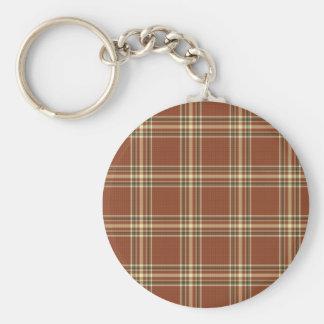 Bruin Geruite Schotse wollen stof Keychain Sleutelhanger