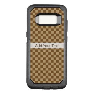 Bruin Klassiek Schaakbord door Shirley Taylor OtterBox Commuter Samsung Galaxy S8 Hoesje