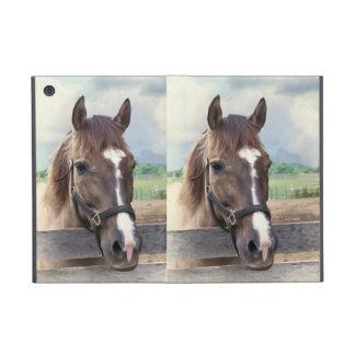 Bruin Paard met het MiniHoesje van Powis van de Te iPad Mini Cover