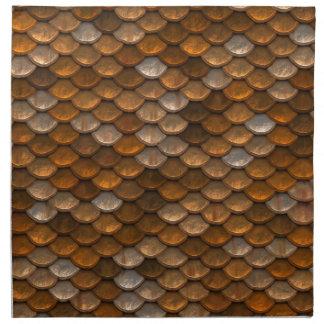 Bruin schalenpatroon katoenen servet