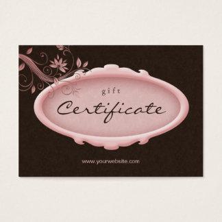 Bruin van de Salon van /100 Bloemen Roze Gift Visitekaartjes