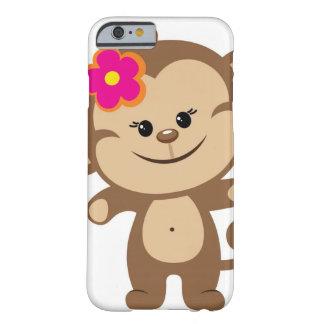 Bruine aapiPhone 6 het Hoesje van de hoesjeTelefoo Barely There iPhone 6 Hoesje