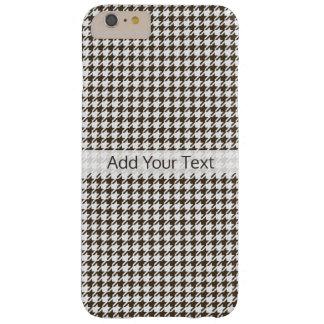 Bruine Combinatie Houndstooth door Shirley Taylor Barely There iPhone 6 Plus Hoesje