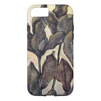Bruine Geschilderde iPhone 7 van Bladeren Hoesje