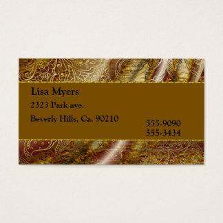 Bruine & Gouden BloemenWijnoogst Visitekaartjes