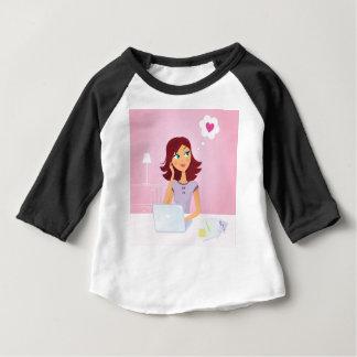 Bruine haarSecretaresse die over Liefde dromen Baby T Shirts