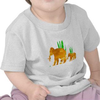 Bruine het Marcheren Olifanten T-shirt