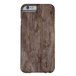 Bruine Houten Schors BarkWooden Barely There iPhone 6 Hoesje
