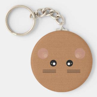Bruine Muis Keychain Sleutelhanger
