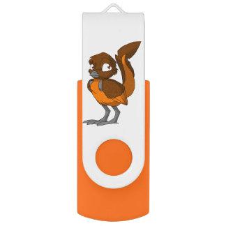 Bruine/Oranje Reptilian Vogel USB Stick