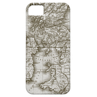 Bruine Oude iphone 5 van de Douane van de Kaart va Barely There iPhone 5 Hoesje