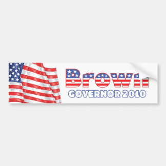 Bruine Patriottische Amerikaanse Vlag 2010 Verkiez Bumpersticker