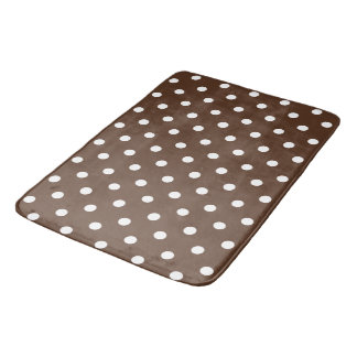 Bruine Stip Badmat