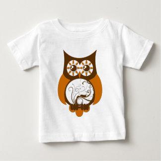 Bruine Swirly Uil .png Baby T Shirts
