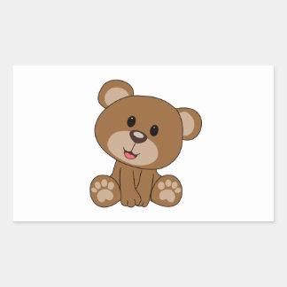Bruine Teddybeer Rechthoekige Sticker
