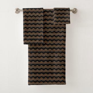 Bruine Zwarte van de Pijlen van Boho de Azteekse Bad Handdoek