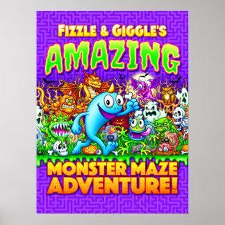 Bruis & Avontuur van het Labyrint van het Monster Poster