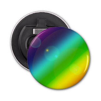 Bruisende Regenboog Button Flesopener