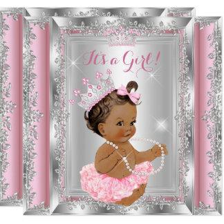 Brunette 2 van de Tutu van het Baby shower van de Kaart