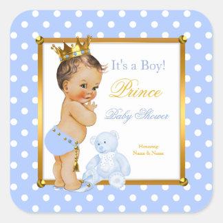 Brunette van de Stip van de Jongen van het Baby Vierkant Stickers