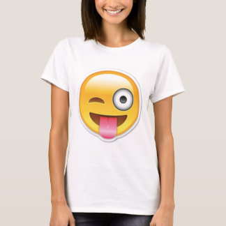 Brutale emoji Smiley knipoogt T Shirt