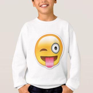 Brutale emoji Smiley knipoogt Trui