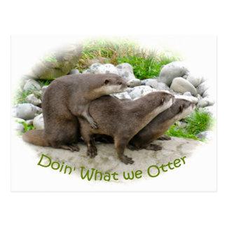 Brutale Otters Briefkaart