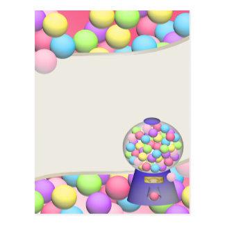 Bubblegum Gumballs en Machine Briefkaart