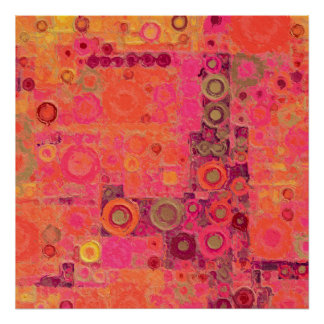 Bubblicious XXVII Rozerood Paars Abstract Poster