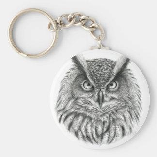 Bubo bubo owl sleutelhanger