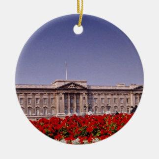 Buckingham Palace, de bloemen van Londen, Engeland Rond Keramisch Ornament