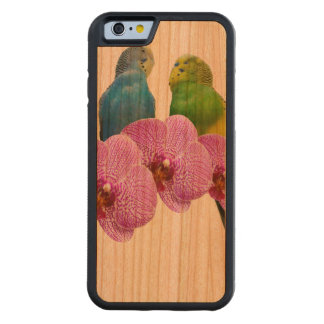 Budgie met Paarse Orchidee Kersen iPhone 6 Bumper Case
